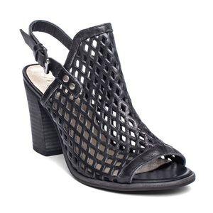 Matisse Centered Slingback Mule Block Heel Black